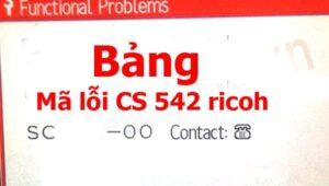 Bảng mã lỗi máy photocopy Ricoh đầu số 5