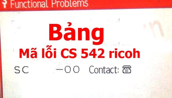 Bảng mã lỗi máy photocopy Ricoh SC552-02